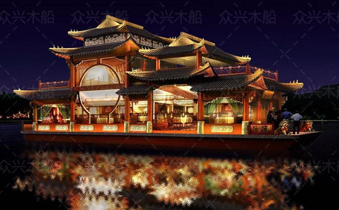 7米豪华画舫餐饮船_五金商贸网