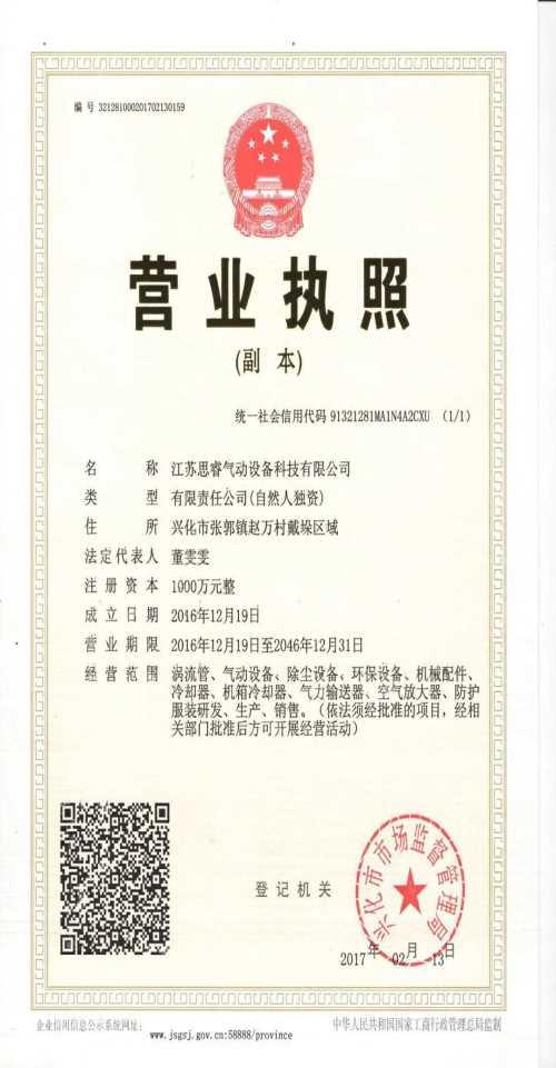 江苏思睿气动设备科技有限公司