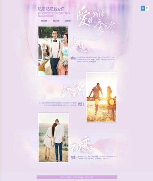婚纱摄影网站定制_资深的商务服务设计