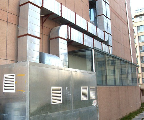 厨房排烟管道工程_通风机