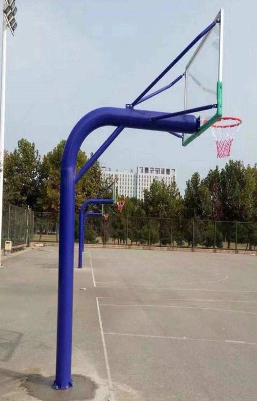 固定圆管篮球架报价_地埋式篮球用品