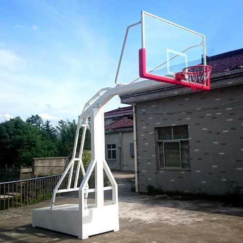 学校仿液压篮球架厂家_凹箱式篮球用品批发