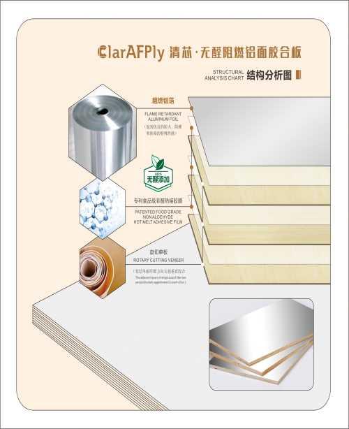 F4星阻燃铝面胶合板批发_清芯板材官网