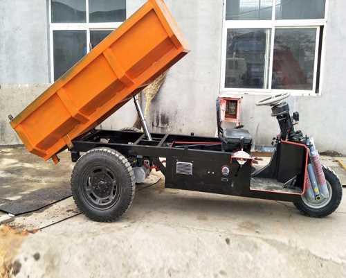 自卸电动自卸三轮车厂家直销_带矿安证的铲土运输机械图片
