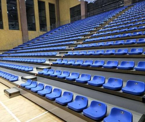 后置式伸缩看台座椅_会议室体育运动产品加工