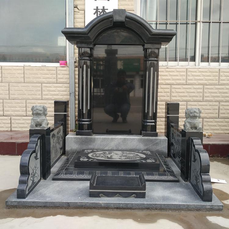 中国黑墓碑 黑色花岗岩套碑哪家便宜_中国黑色花岗岩相关