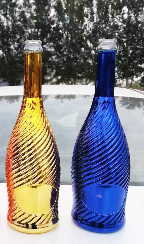 河北高白玻璃蒙砂瓶出口_高档包装产品加工