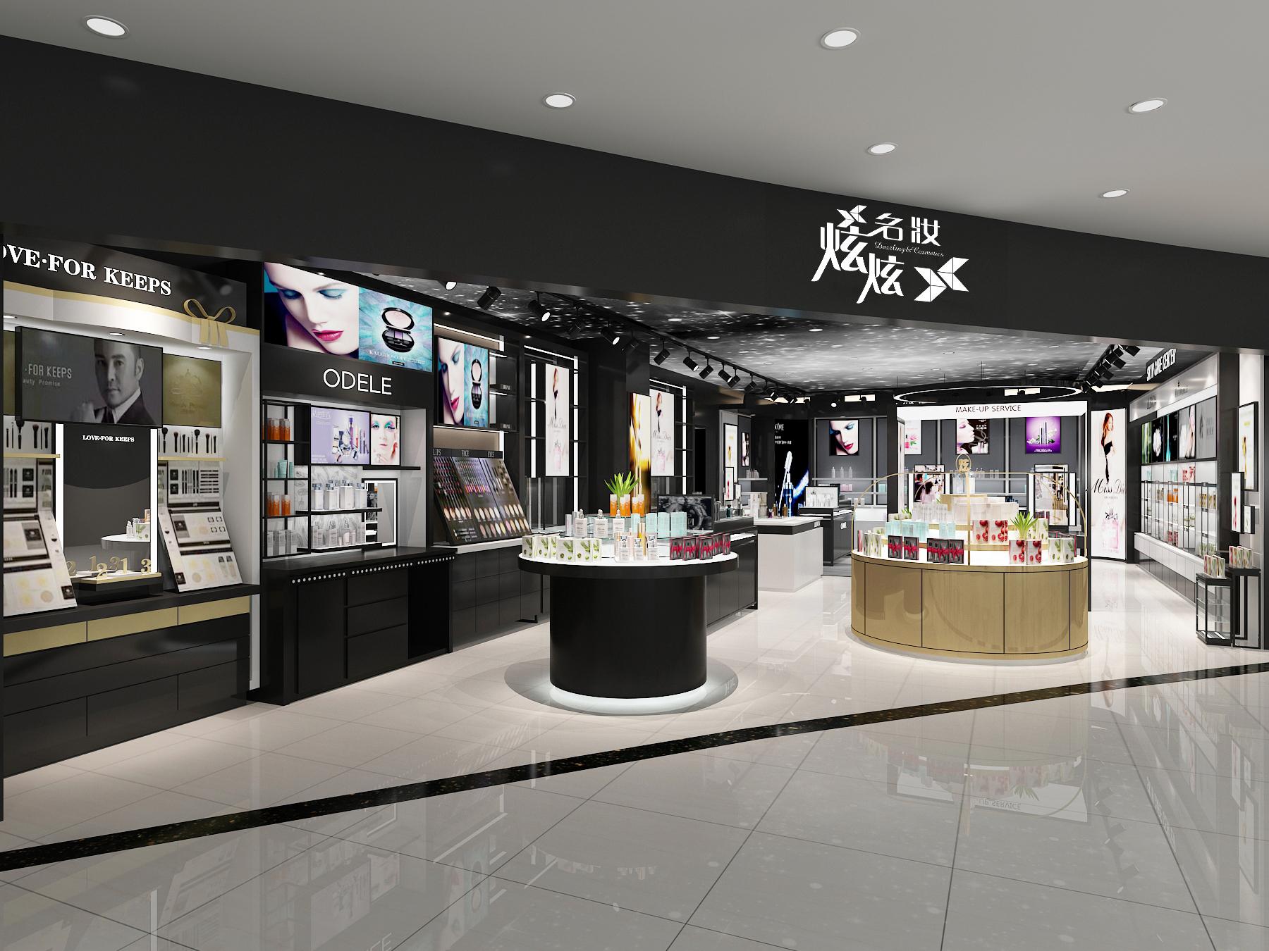 高端化妆品展柜定做_护肤展示柜-广州新泽展示用品有限公司