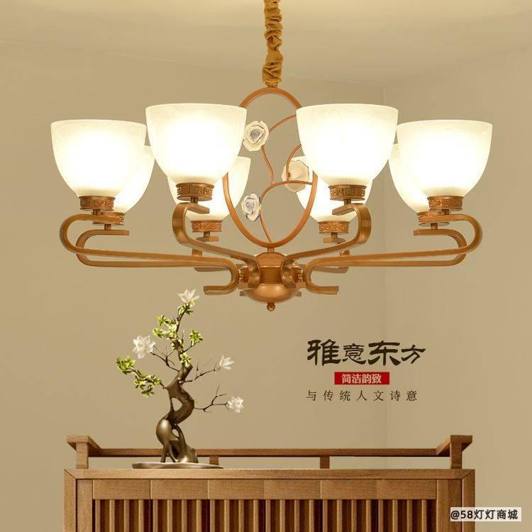 桂林餐厅现代中式灯品牌_全铜中式灯相关-江门福高照明科技有限公司