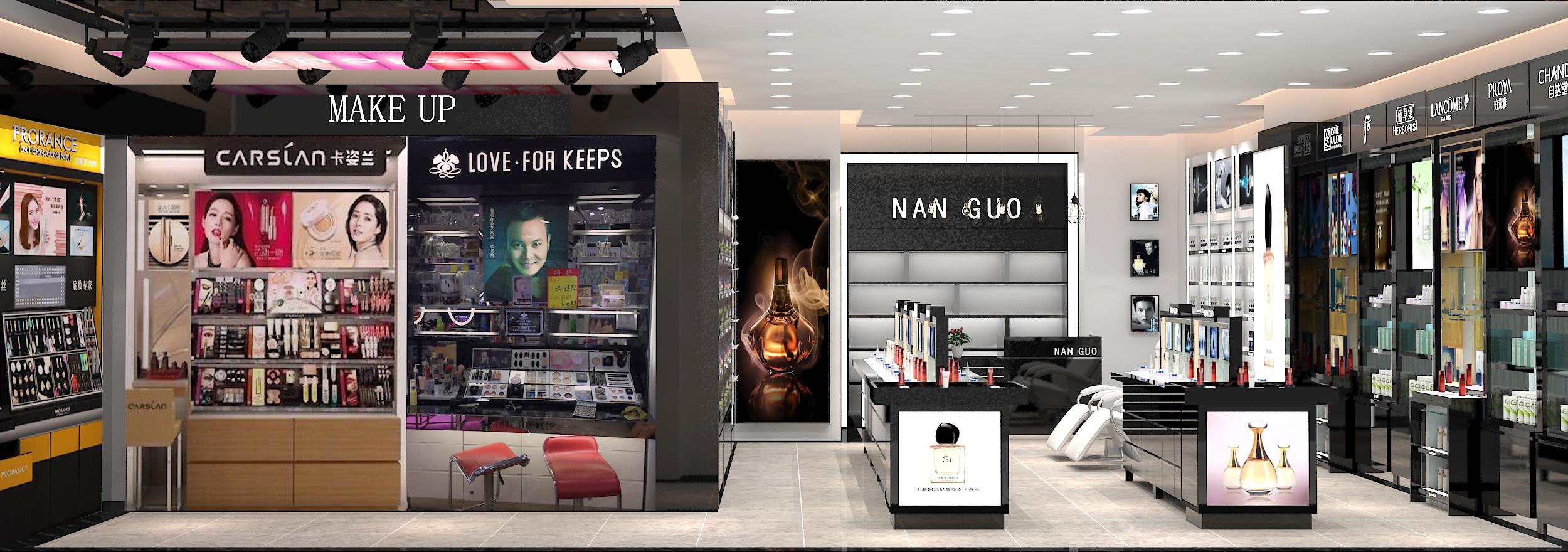 专业彩妆展柜厂_环保展示柜生产厂-广州新泽展示用品有限公司