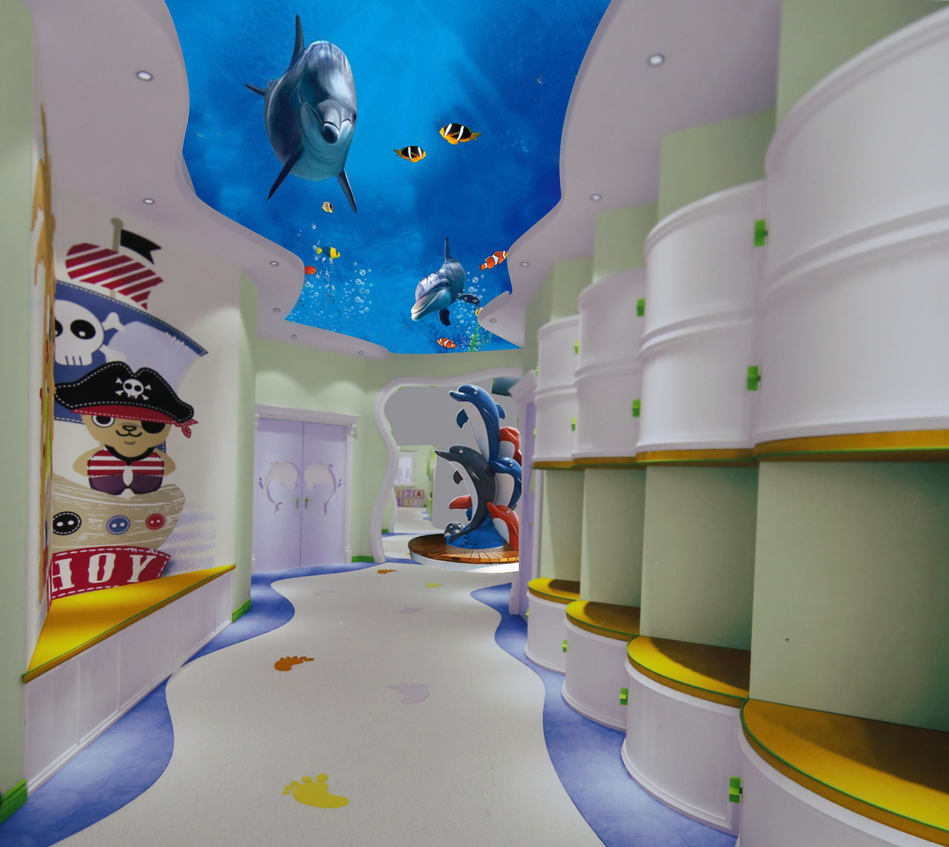 郑州有创意的幼儿园墙体画效果图_专业其他创意设计策划-河南启蒙彩绘艺术有限公司