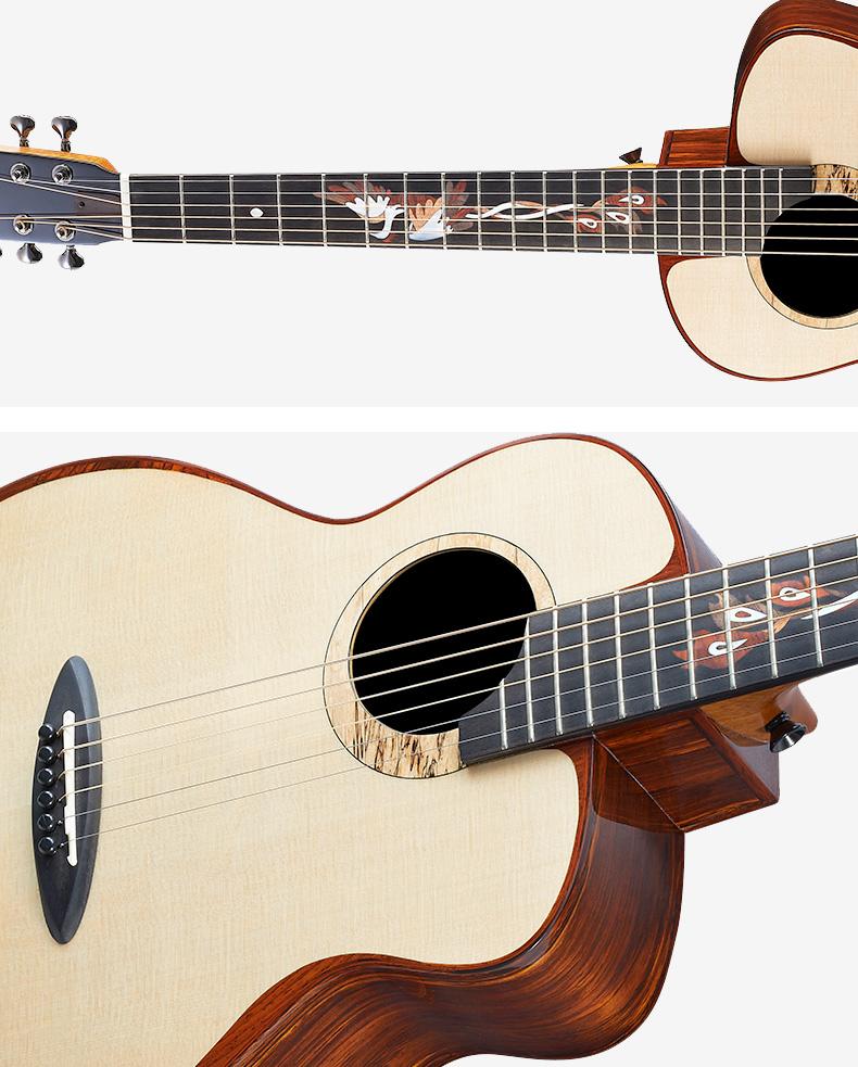 河南古典吉他桑托斯吉他多少钱_入门弹拨类乐器价位-河南欧乐乐器批发有限公司