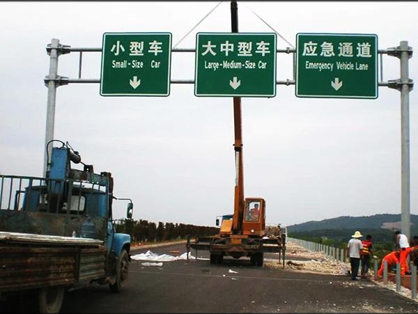 双悬臂交通标志杆_交通标志杆相关-河北省沧州胜翔交通设施有限公司