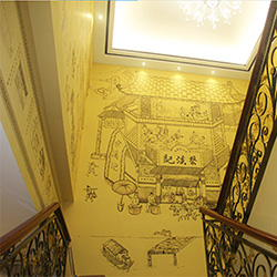 有名祠堂墙绘_墙绘价格相关-大宏图装饰工程有限公司