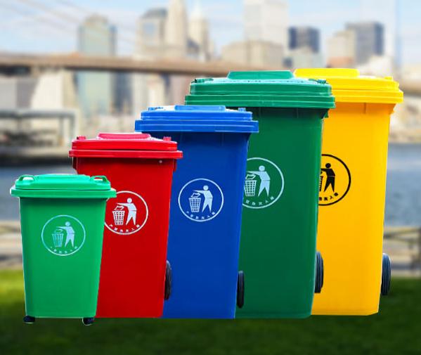 公园四色垃圾桶生产直销_周边环卫垃圾桶-新乡亿博环保科技有限公司