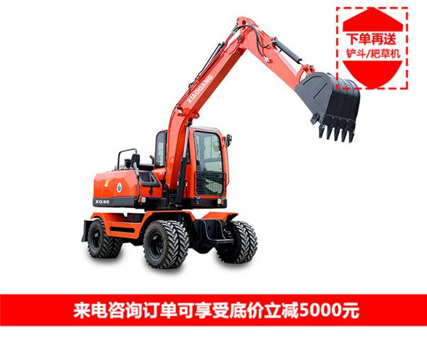 60輪式小挖掘機廠家_70挖掘機械廠家-湖南小鋼建機有限公司