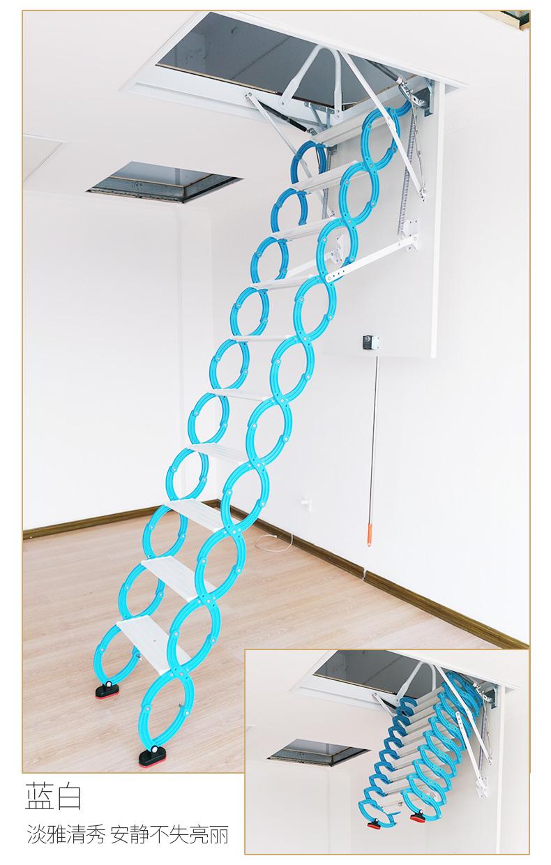 阁楼伸缩楼梯安装_楼梯及配件-新乡市未来楼梯有限公司
