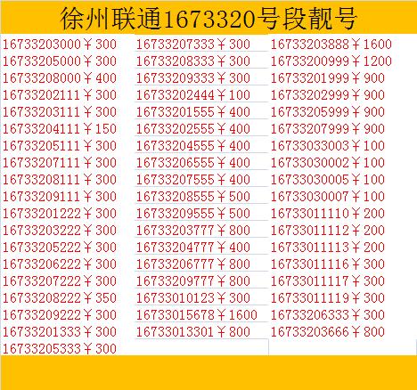 联通手机靓号网上选号_靓号-上海苦荞科技有限公司