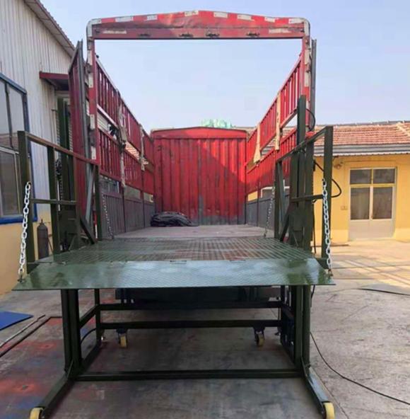 滨州集装箱叉车卸货平台图片_卸货平台报价相关-济南泰晟升降机械有限公司