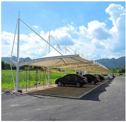 成都PTFE膜结构自行车棚_车棚膜结构相关-四川炽发建筑安装工程有限公司