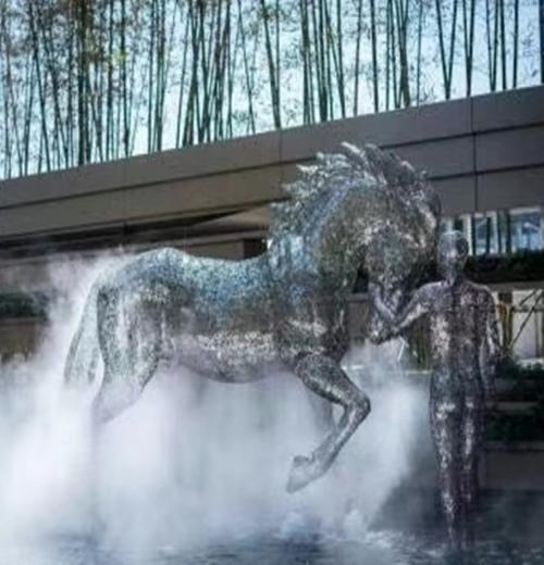 湖北園林景觀不銹鋼造型_大型藝術雕塑造景藝術-深圳市東方韻造型藝術有限公司