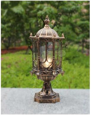 郑州公园墙头灯安装_小区庭院灯生产厂家-河南绿源灯饰有限公司