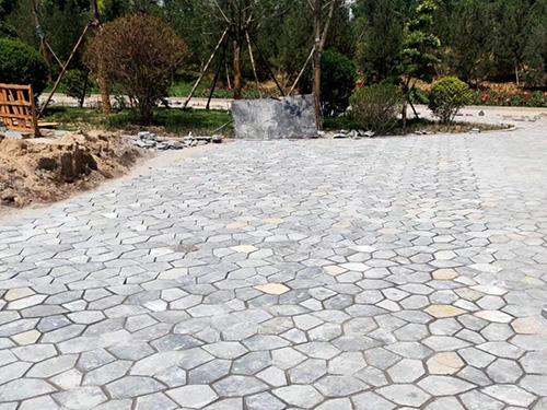 鹅卵石石材安装效果图 石材的安装相关
