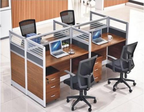 黃石四人屏風工作位價格 辦公桌屏風工作位定做