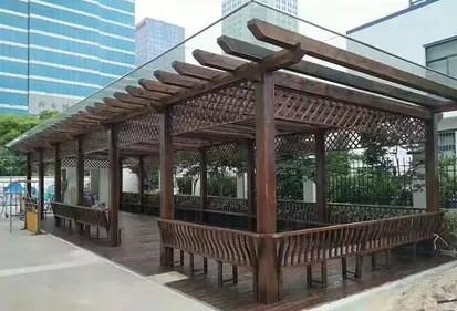 陕西中式茶楼仿古门窗厂家设计_门窗挂钩相关-成都福运园林景观工程有限公司