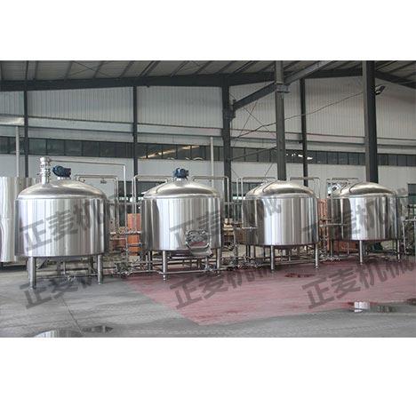 枝江鲜酿啤酒设备_500升酒及饮料生产设备-济南正麦机械设备有限公司